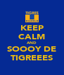 KEEP CALM AND SOOOY DE TIGREEES - Personalised Poster A4 size