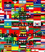 KEEP CALM AND speak another language  - Personalised Poster A4 size
