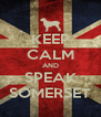KEEP CALM AND SPEAK SOMERSET - Personalised Poster A4 size