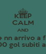 KEEP CALM AND Speriamo ke nn arrivo a fine giornate con 100 gol subiti ahahha - Personalised Poster A4 size