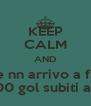 KEEP CALM AND Speriamo ke nn arrivo a fine giornate con 100 gol subiti ahahha - Personalised Poster A4 size