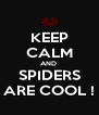 KEEP CALM AND  SPIDERS ARE COOL ! - Personalised Poster A4 size