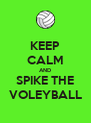 KEEP CALM AND SPIKE THE VOLEYBALL - Personalised Poster A4 size
