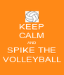 KEEP CALM AND SPIKE THE VOLLEYBALL - Personalised Poster A4 size