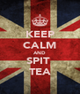 KEEP CALM AND SPIT  TEA - Personalised Poster A4 size