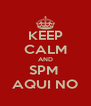 KEEP CALM AND SPM  AQUI NO - Personalised Poster A4 size