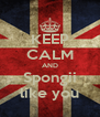 KEEP CALM AND Spongii like you - Personalised Poster A4 size