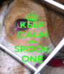 KEEP CALM AND SPOOK ONE - Personalised Poster A4 size