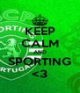 KEEP CALM AND SPORTING <3 - Personalised Poster A4 size