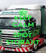 KEEP CALM AND SPOT  STOBART  - Personalised Poster A4 size