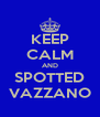 KEEP CALM AND SPOTTED VAZZANO - Personalised Poster A4 size