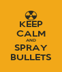 KEEP CALM AND SPRAY BULLETS - Personalised Poster A4 size