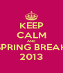 KEEP CALM AND SPRING BREAK 2013 - Personalised Poster A4 size