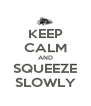 KEEP CALM AND SQUEEZE SLOWLY - Personalised Poster A4 size