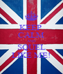 KEEP  CALM AND SQUEL LIKE ME! - Personalised Poster A4 size