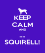 KEEP CALM AND .... SQUIRELL! - Personalised Poster A4 size