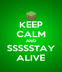 KEEP CALM AND SSSSSTAY ALIVE - Personalised Poster A4 size