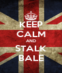 KEEP CALM AND STALK BALE - Personalised Poster A4 size