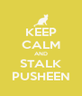 KEEP CALM AND STALK PUSHEEN - Personalised Poster A4 size