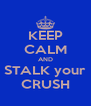 KEEP CALM AND STALK your CRUSH - Personalised Poster A4 size