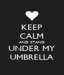 KEEP CALM AND STAND UNDER MY UMBRELLA - Personalised Poster A4 size