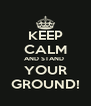 KEEP CALM AND STAND  YOUR GROUND! - Personalised Poster A4 size