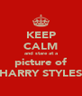 KEEP CALM and stare at a picture of HARRY STYLES - Personalised Poster A4 size