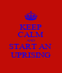 KEEP CALM AND START AN  UPRISING - Personalised Poster A4 size
