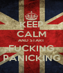 KEEP CALM AND START FUCKING PANICKING - Personalised Poster A4 size