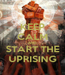 KEEP CALM AND START THE UPRISING - Personalised Poster A4 size