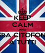 KEEP CALM AND STASERA CITOFONIAMO A TUTTI - Personalised Poster A4 size