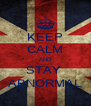 KEEP CALM AND STAY  ABNORMAL - Personalised Poster A4 size