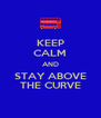 KEEP CALM AND STAY ABOVE THE CURVE - Personalised Poster A4 size