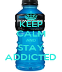 KEEP CALM AND STAY ADDICTED - Personalised Poster A4 size