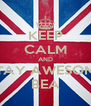 KEEP CALM AND STAY AWESOME BEA - Personalised Poster A4 size