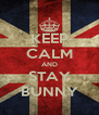 KEEP CALM AND STAY BUNNY - Personalised Poster A4 size