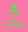 KEEP CALM AND STAY CAITYBUG - Personalised Poster A4 size