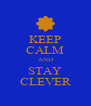 KEEP CALM AND STAY CLEVER - Personalised Poster A4 size