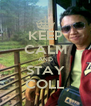 KEEP CALM AND STAY COLL - Personalised Poster A4 size