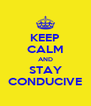 KEEP CALM AND STAY CONDUCIVE - Personalised Poster A4 size