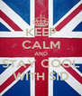 KEEP CALM AND STAY COOL WITH SID - Personalised Poster A4 size