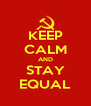 KEEP CALM AND STAY EQUAL - Personalised Poster A4 size