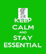KEEP CALM AND STAY ESSENTIAL - Personalised Poster A4 size