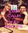 KEEP CALM AND STAY #FCUTE - Personalised Poster A4 size