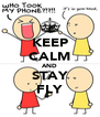 KEEP CALM AND STAY FLY - Personalised Poster A4 size