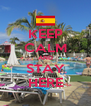 KEEP CALM AND STAY HERE - Personalised Poster A4 size