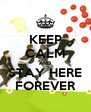 KEEP CALM AND STAY HERE FOREVER - Personalised Poster A4 size
