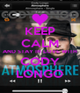 KEEP CALM AND STAY IN LOVE WITH CODY LONGO - Personalised Poster A4 size