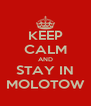 KEEP CALM AND STAY IN MOLOTOW - Personalised Poster A4 size