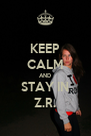 KEEP CALM AND STAY IN Z.R. - Personalised Poster A4 size